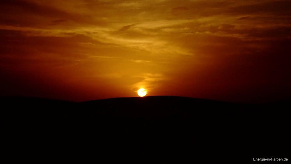 Sonnenuntergang-Sahara